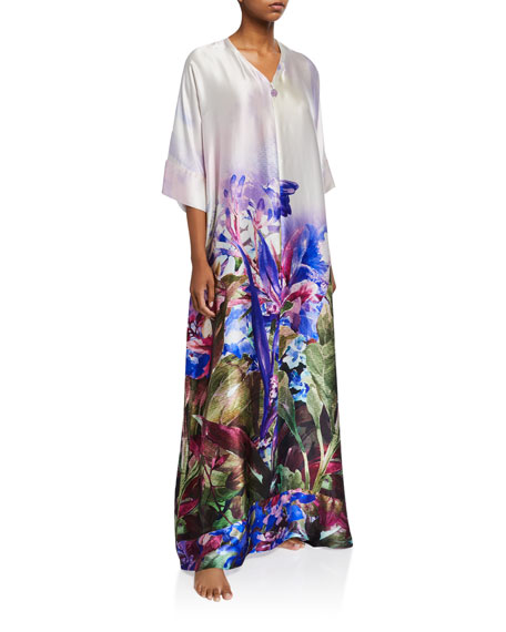 Christine Lingerie South Pacific Zip-Front Caftan