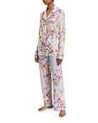 Johnny Was Domoto Floral-Print Classic Pajama Set