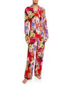 Johnny Was Mischka Floral Classic Pajama Set