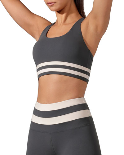 Comfort Support Sports Bra with Stripes