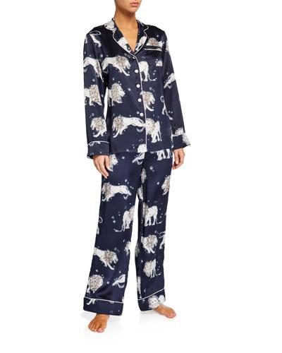 Lila Nefertiti Classic Silk Pajama Set