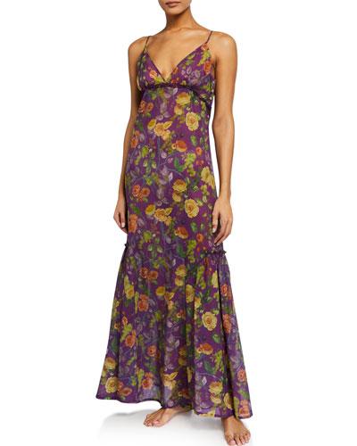 Adda Floral-Print Nightdress