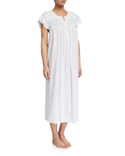 Katia Ruffle-Sleeve Nightgown