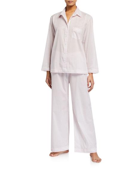 Pour Les Femmes Lace-Trim Cotton Lawn Pajama Set