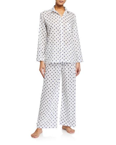 Polka Dot Cotton Lawn Pajama Set