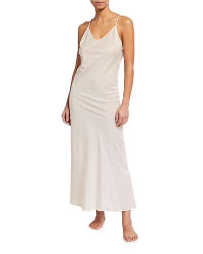 Silk-Blend Long Nightgown