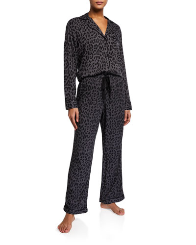 Clara Animal Print Classic Pajama Set