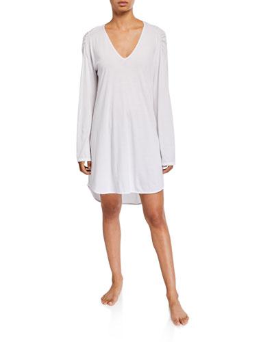 Eva V-Neck Long-Sleeve Sleepshirt
