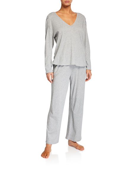 Skin Elena Heathered Pajama Top