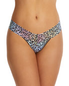 Hanky Panky Rainbow Leopard-Print Low-Rise Thong