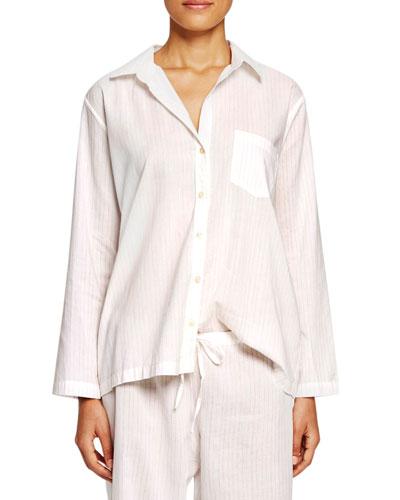 Pinstripe Poplin Pajama Set