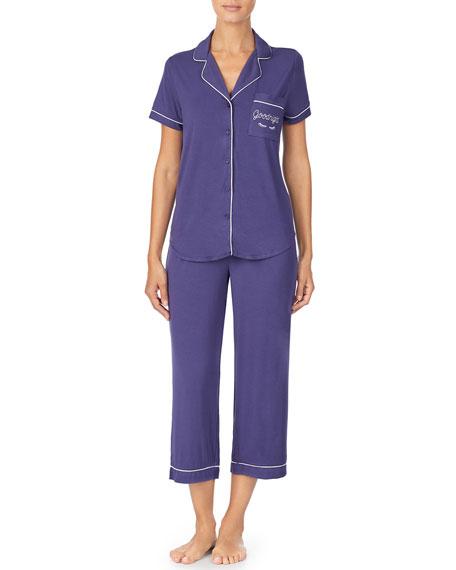 kate spade new york goodnight capri pajama set