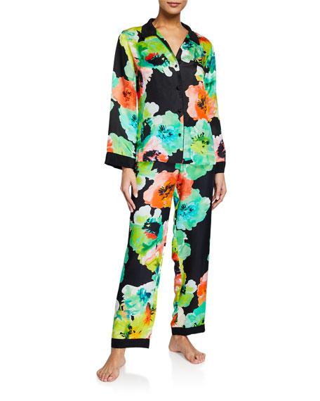 Josie Natori Ophelia Watercolor Printed Classic Pajama Set