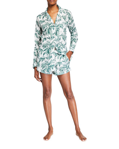 Byron Signature Long-Sleeve Short Pajama Set
