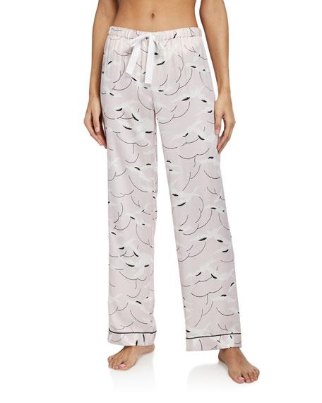 Morgan Lane Chantal Graphic Silk-Blend Pajama Pants