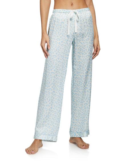 Morgan Lane x Atlanta Chantal Leopard Silk-Blend Pajama Pants