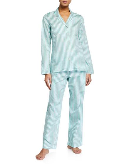 Derek Rose Kate 2 Striped Pajama Set