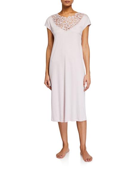 Hanro Najuma Lace-Yoke Nightgown
