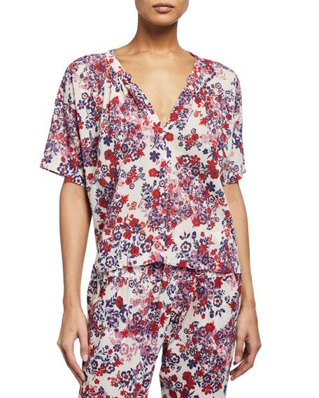 Xirena Britton Floral-Print Top
