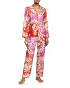 Josie Natori Mantilla Scroll Pajama Set