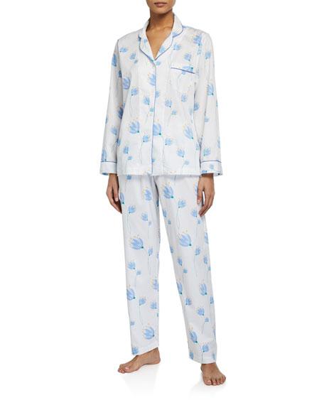 P Jamas Tulip Printed Pique Classic Pajama Set