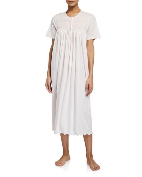 P Jamas Cordelia Short-Sleeve Jersey Nightgown