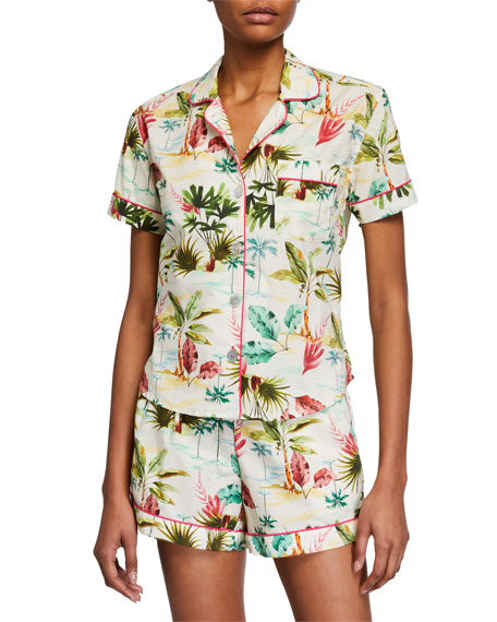 The Lazy Poet Hawaiian Vibes Short Pajama Set