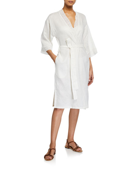 The Lazy Poet Emily Lace Shirt Robe