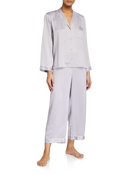 Natori Feathers Satin Essentials Pajama Set