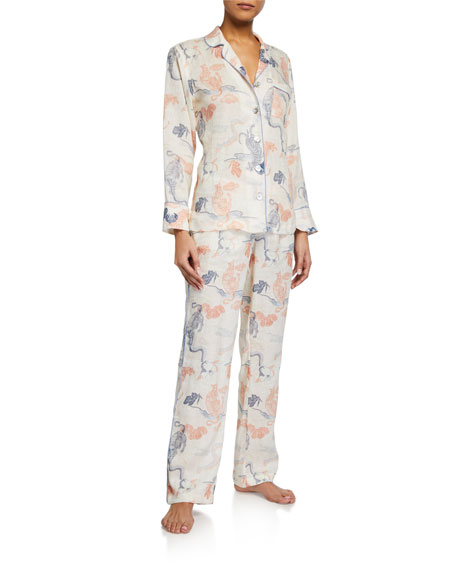 The Lazy Poet Emma Peking Tiger Long Pajama Set