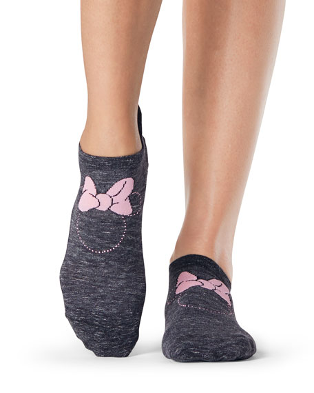 ToeSox Grip Savvy Dazzle Minnie Mouse Socks