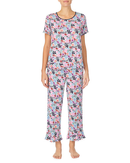 kate spade new york mini fern cropped pajama set