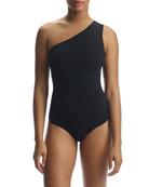 Commando Ballet One-Shoulder Sleeveless Matte Bodysuit