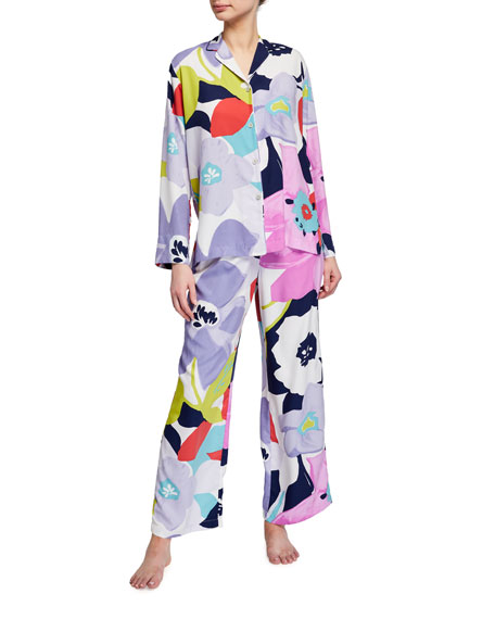 Natori Bonita Floral Print Charmeuse Pajama Set