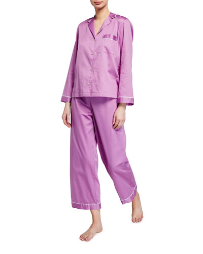 Cotton Sateen Essentials Pajama Set