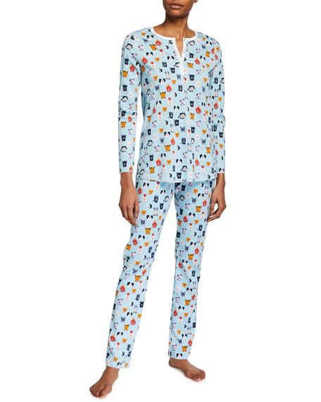 Roller Rabbit Zoo Diac Pima Cotton Pajama Set