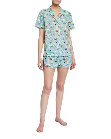 Roller Rabbit Head Tails Lulu Printed Short Pajama Set