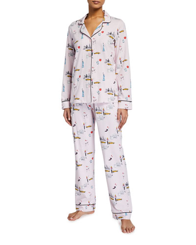 New York Minute Classic Long-Sleeve Pajama Set