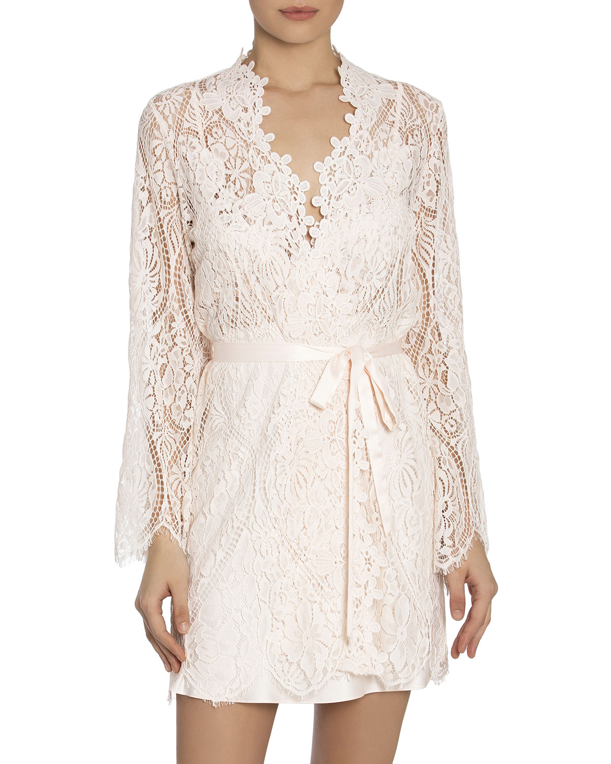 Jonquil CATERINA SHORT LACE ROBE