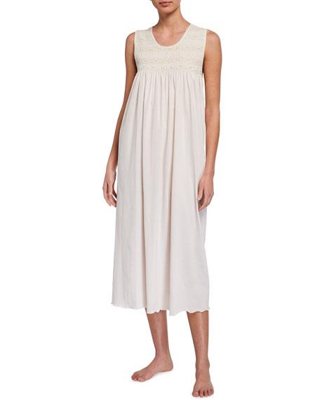P Jamas Elvira Sleeveless Jersey Nightgown
