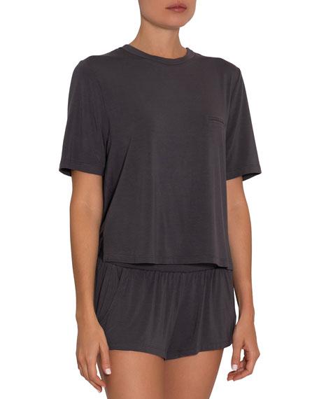 Eberjey Finley Patch Pocket Pajama Top