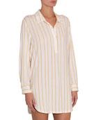 Eberjey Summer Stripes Boyfriend Sleep Shirt