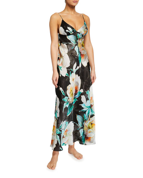 Christine Lingerie Ophelia Floral Print Long Gown
