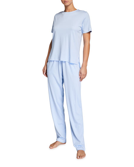 P Jamas Bright Butterknit Short-Sleeve Pajama Set