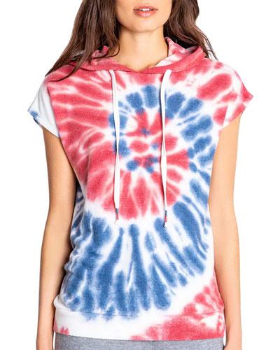 American Tie Dye Short-Sleeve Hoodie