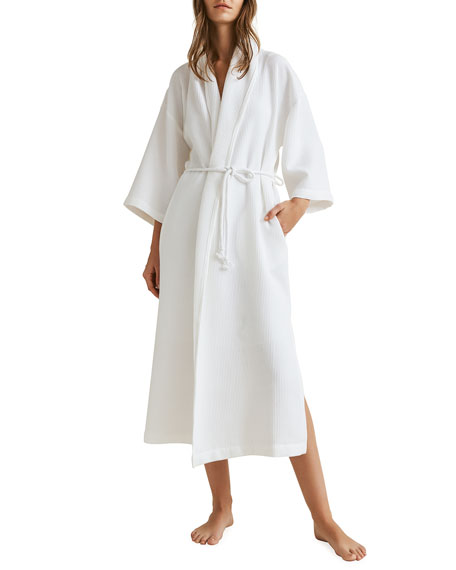 Skin Lydia Pima Cotton Jacquard Knit Robe