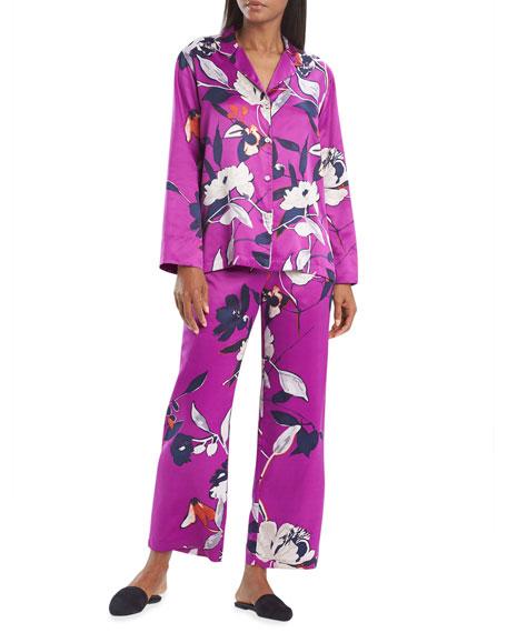 Natori Odessa Floral Printed Satin Pajama Set