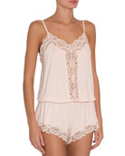 Eberjey Marry Me Dreamer Teddy with Scalloped Lace