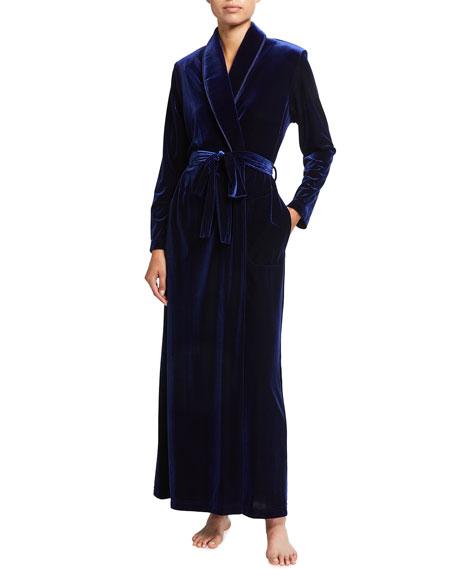Diamond Tea Gown Velvet Shawl Collar Long Robe