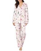 BedHead Pajamas Lets Do Brunch Classic Long-Sleeve Pajama